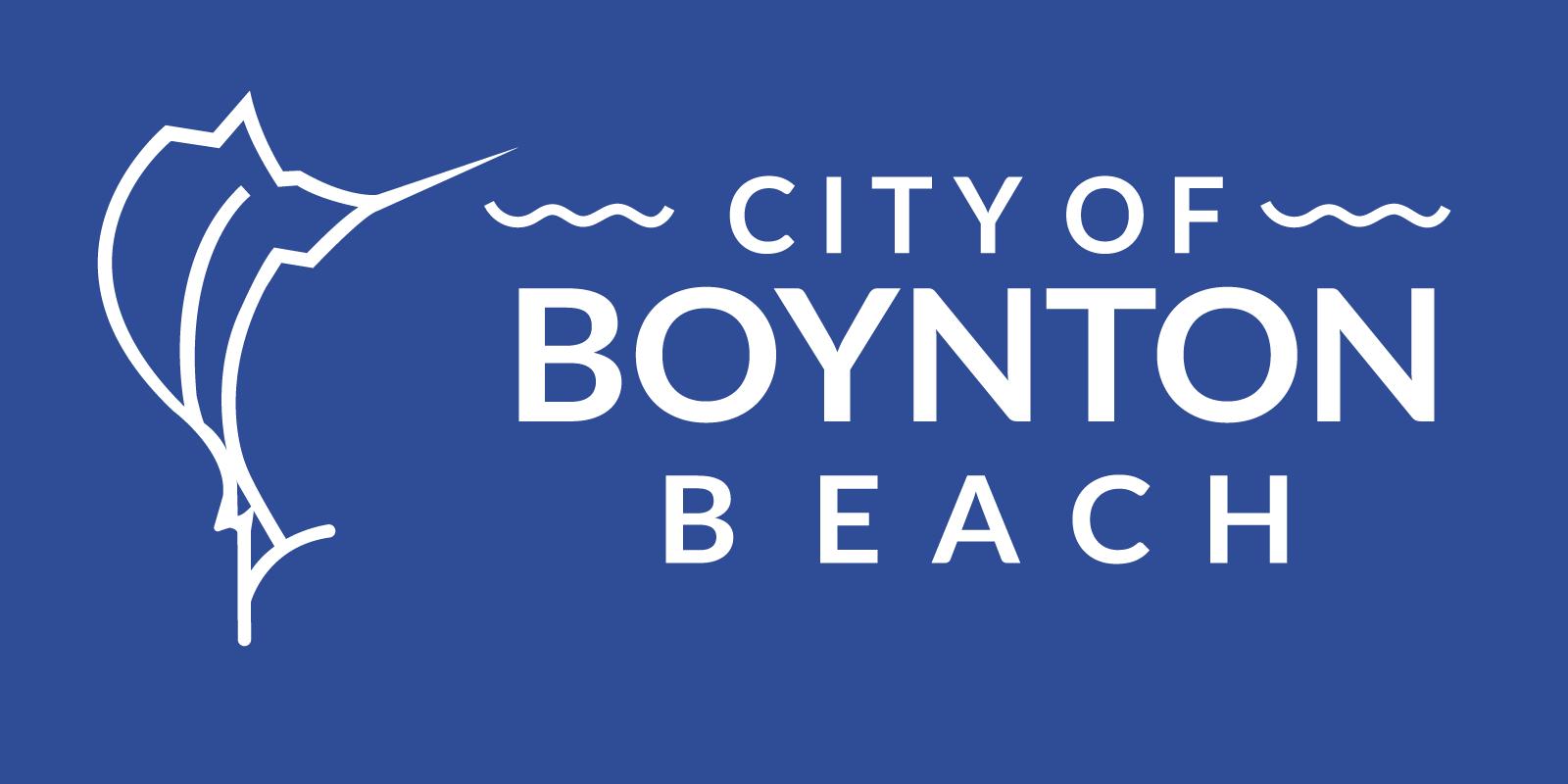City Of Boynton Beach Blue Color Logo