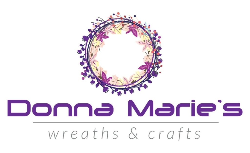 Donna Marie's Wreaths and Crafts Logo Design