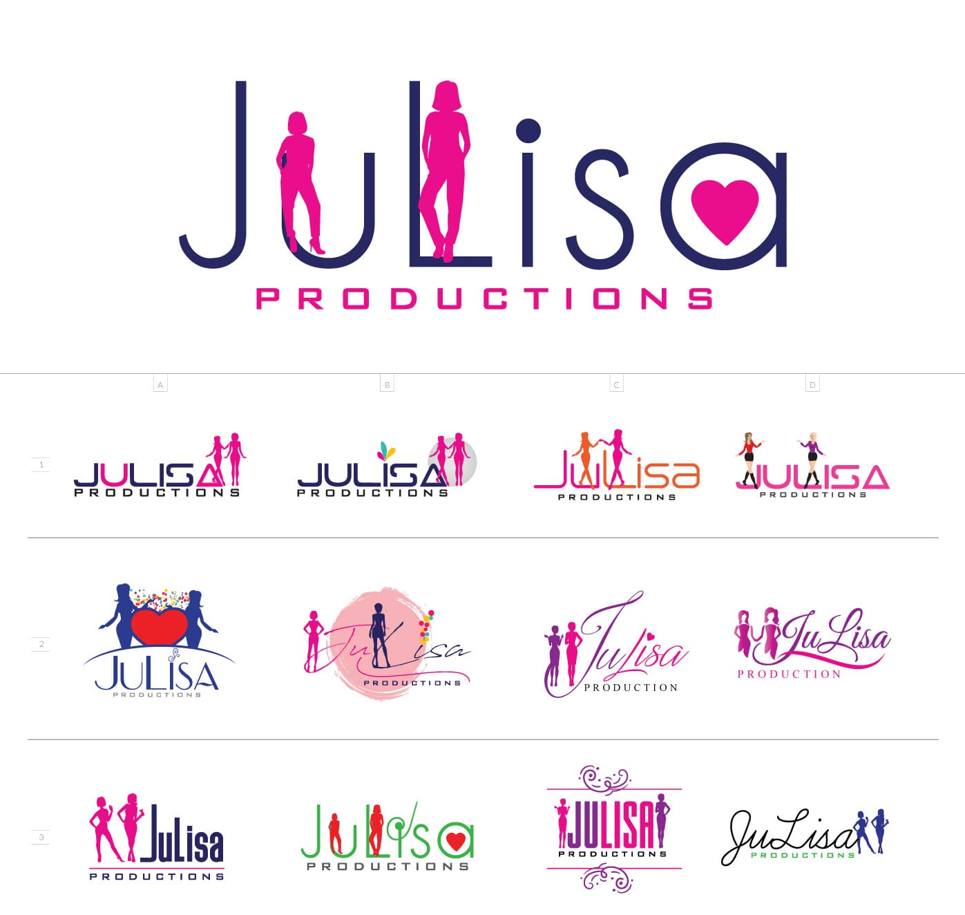 Julisa Production Logo Design Options
