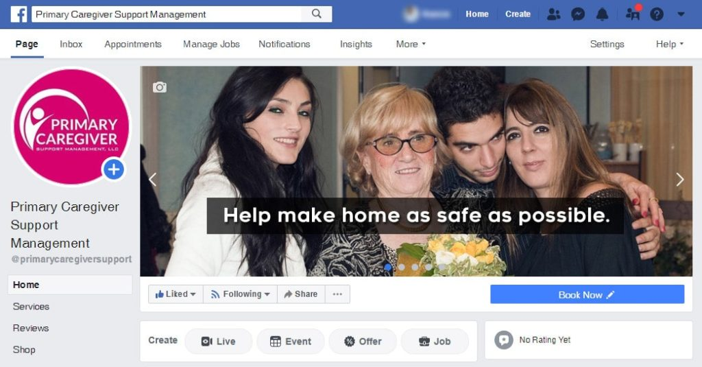 Primary Caregiver Support-Management Facebook