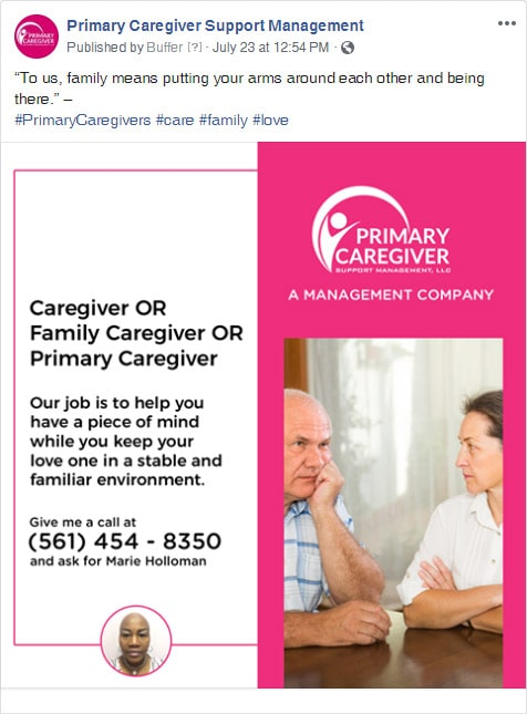 Primary Caregivers Facebook Post 1