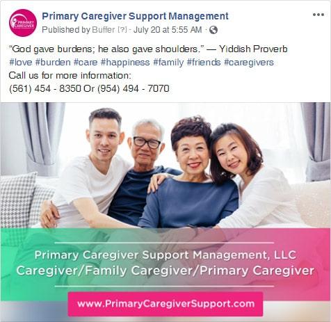 Primary Caregivers Facebook Post 2