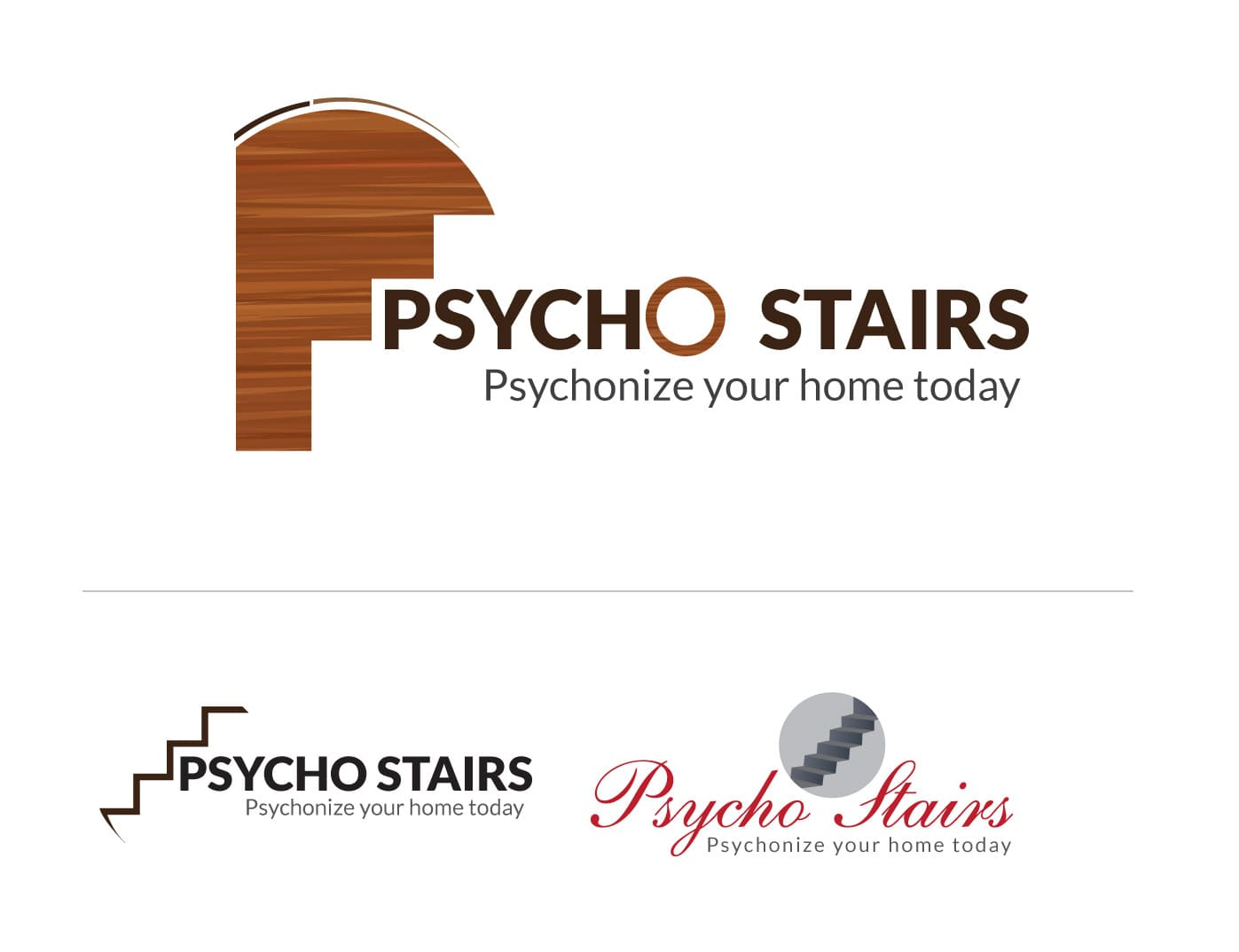 Psycho Stairs Logo Design Options