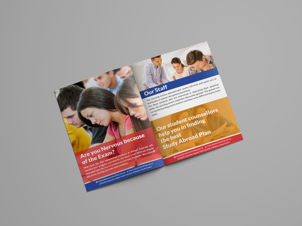 Booklet Innerpage - Our Staff Page Design