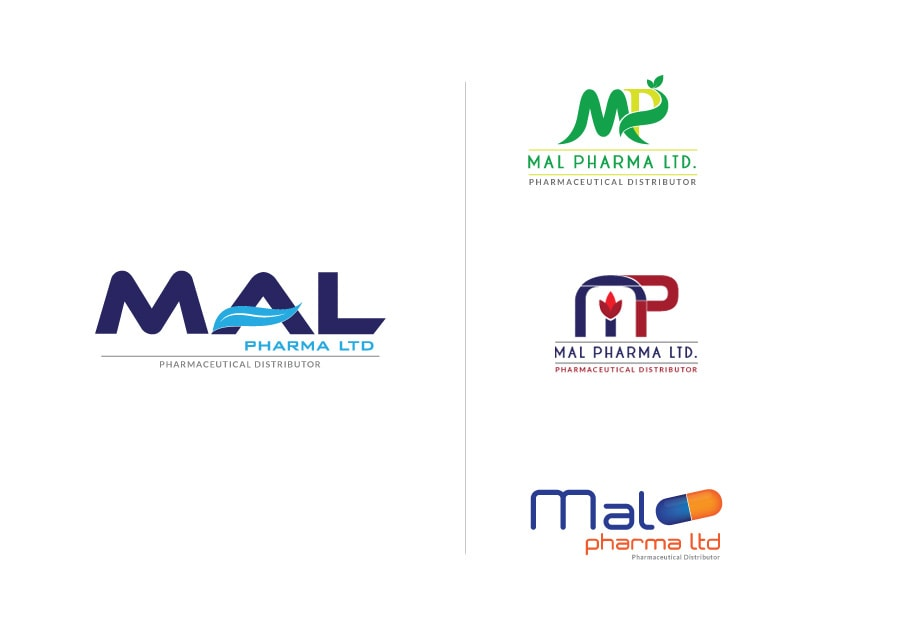 MAL Pharma Logo Design Options