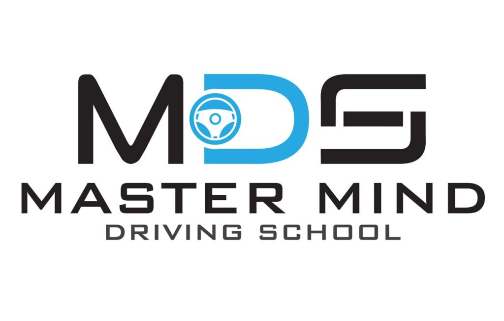 Master Mind Driving School Logo With Car Staring as Symbol