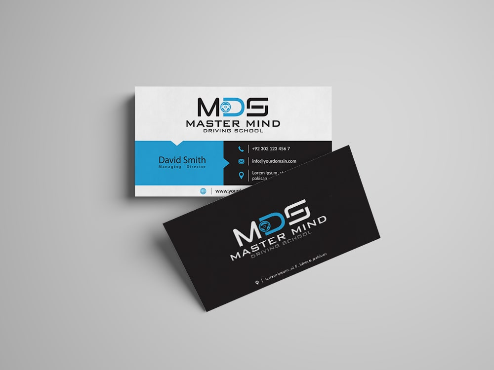 Mastermind Driving School Business Card Design