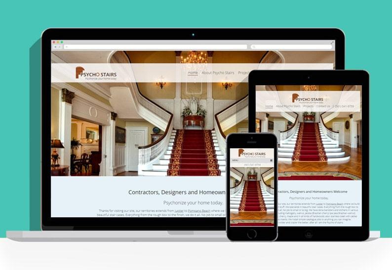 Psycho Stairs Website Responsive Web Design