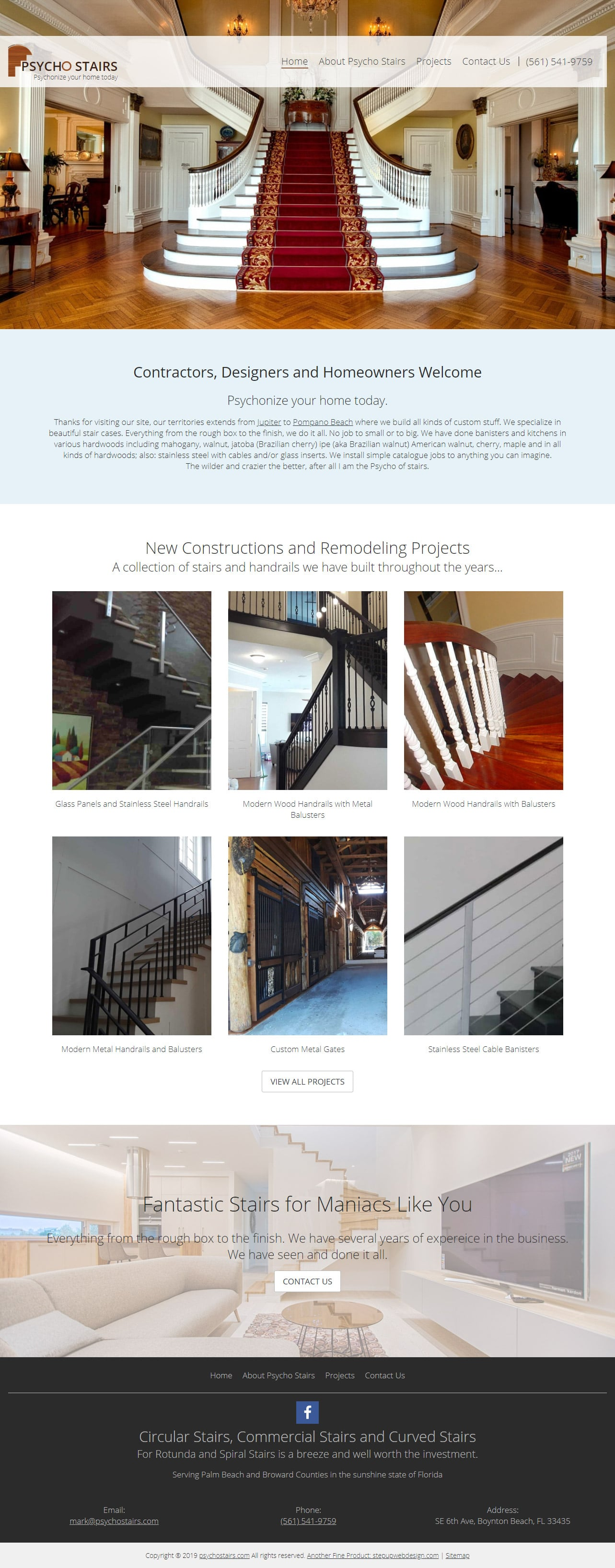 Psycho Stairs Homepage Design