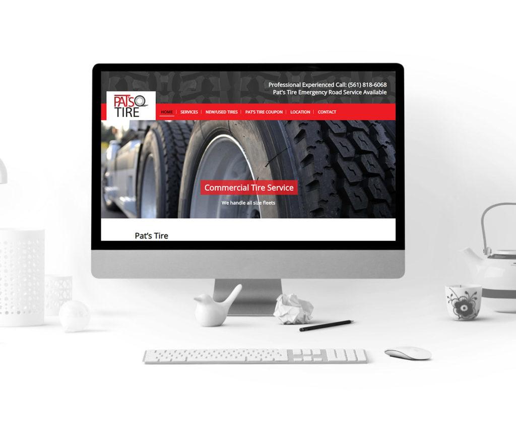 Pat's Tires WordPress Web Design Project - Homepage