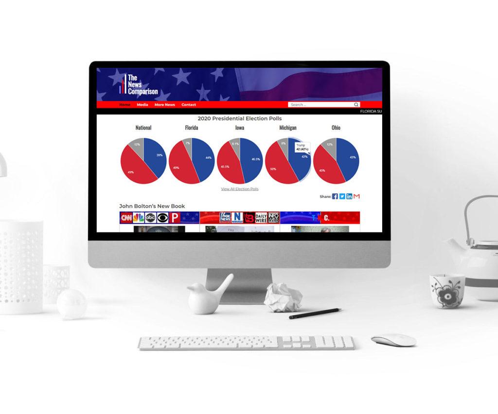 The News Comparison Website Design - Homepage